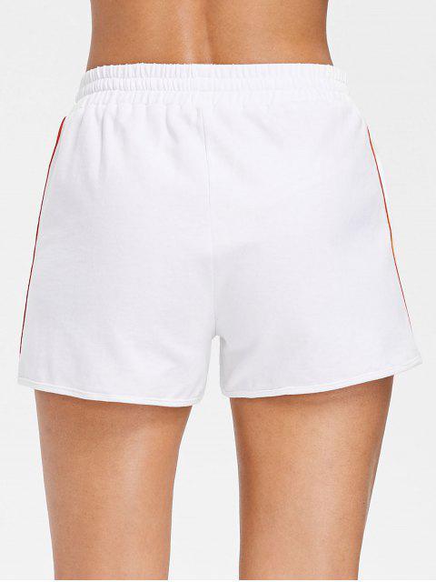 Pantalones cortos de cintura alta Rainbow Short Stripe - Blanco L Mobile
