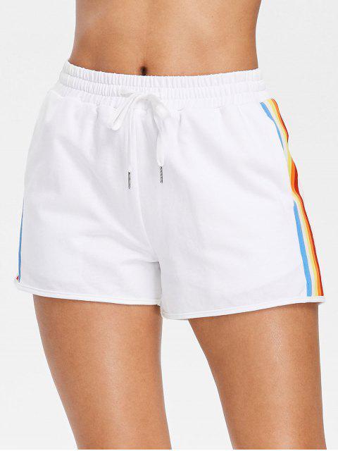 Pantalones cortos de cintura alta Rainbow Short Stripe - Blanco M Mobile