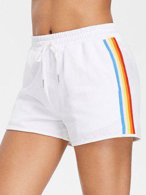 Regenbogen Seitliche Streifen Hoch Taillierte Shorts
