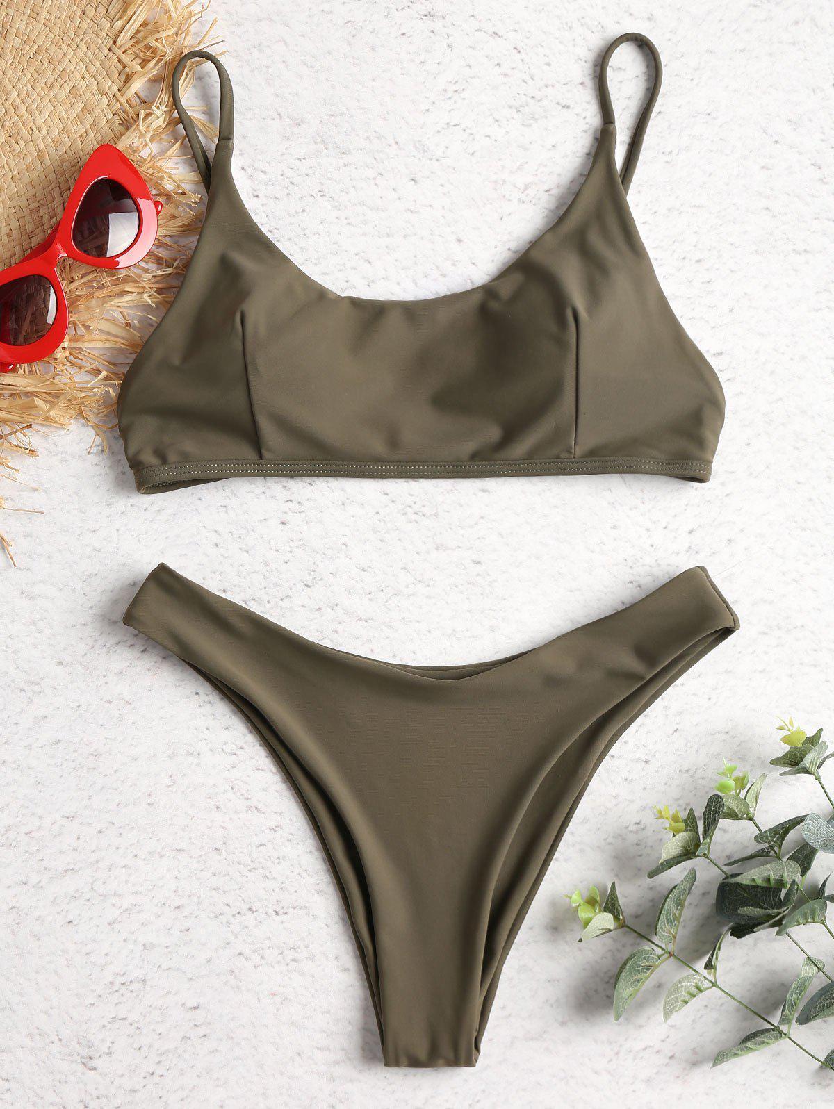 High Leg Padded Bikini Swimsuit