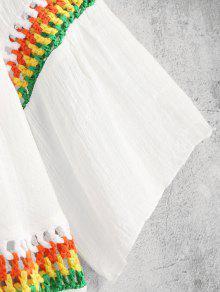 Cover Vestido Colorido Blanco Insert Crochet Up x8qUUE06w