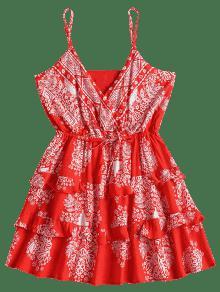 Amo Volantes Rojo Mini Survillo De Vestido Con Con M Volantes PYqwR0p
