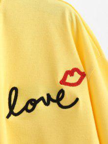 Boca Con Estampado Amarillo Nudo Con S Camiseta De tawxqOgtB