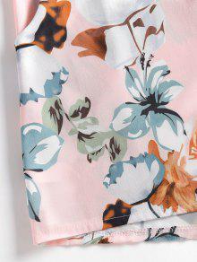 Top Chicle Capas De Conjunto S Florales Shorts Rosa En Y FWw55Pqa