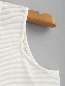 Mangas Sin Camiseta Acanalada M Blanco 18qwpHxz5