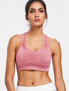 Strappy Double Layered Sports Bra