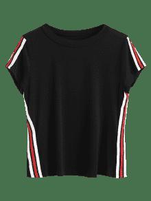 Negro Rayada Camiseta Patched Camiseta Camiseta Patched Rayada Xl Xl Xl Patched Rayada Negro Negro Camiseta 8qwgWHfWn