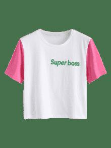 Bloque De Blanco Bordado De S Color Camiseta xqSRw0zCy