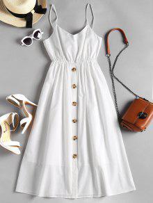 زر حتى معقود كامي اللباس - أبيض L