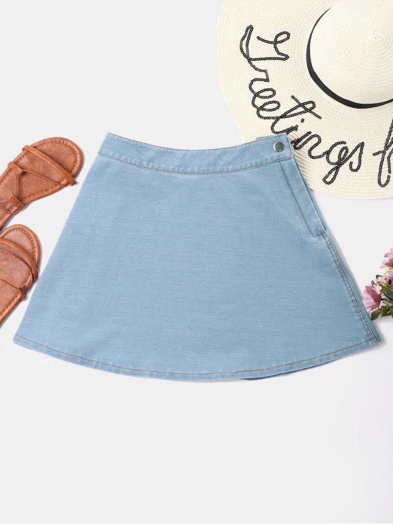 outfit Flared Denim Skirt - BABY BLUE XL