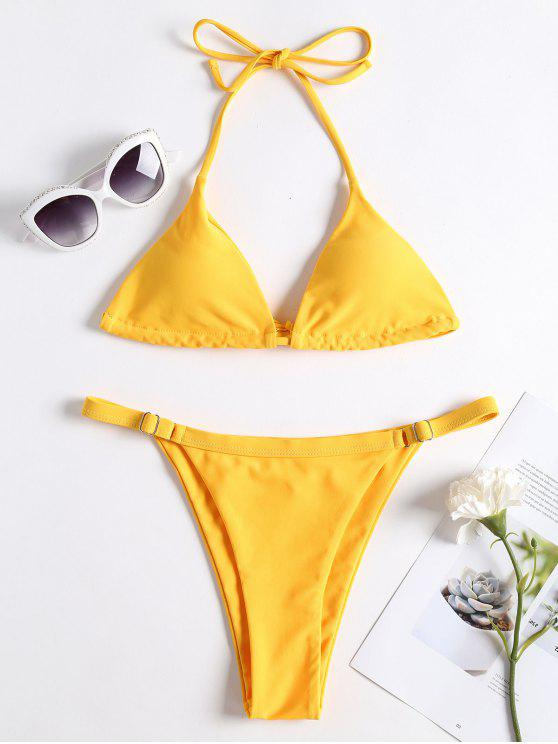 Bikini de tanga de cadena ajustable - Caucho Ducky Amarillo M