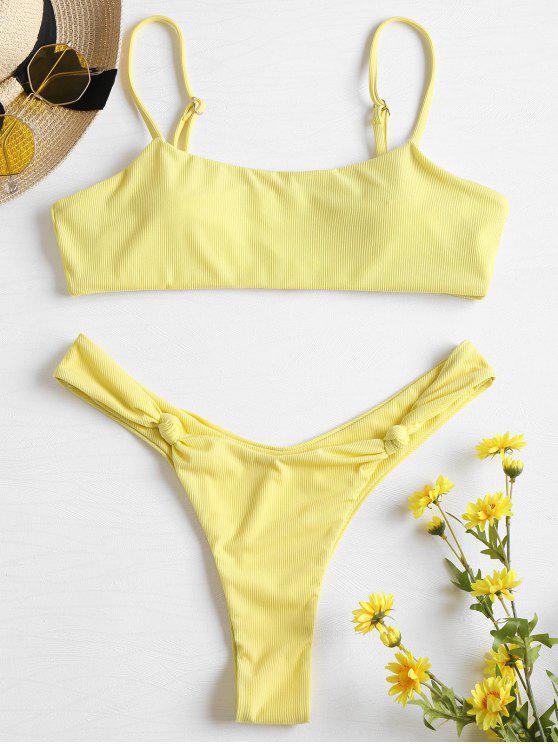 Bikini Bralette A Costine Annodato - Crema M