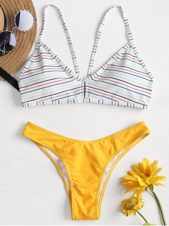 último clasificado compra especial nueva lanzamiento Bikini de rayas con cintura baja
