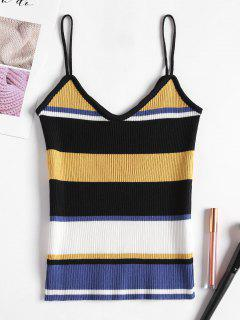 Ribbed Stripes Tank Top - Sun Yellow