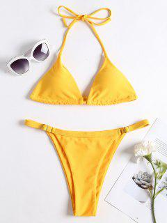Adjustable String Thong Bikini - Rubber Ducky Yellow L