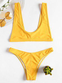 Bikini à Encolure Ronde Et Bretelles - Jaune Canard Caoutchouc L