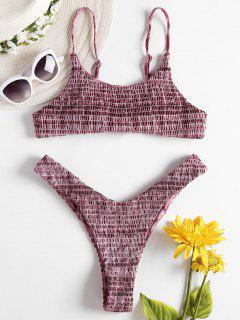 Bikini De Pierna Alta Deshilachada Tie Dye - Multicolor M