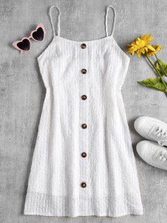 Shadow Stripe A Line Cami Mini Vestido - Blanco S
