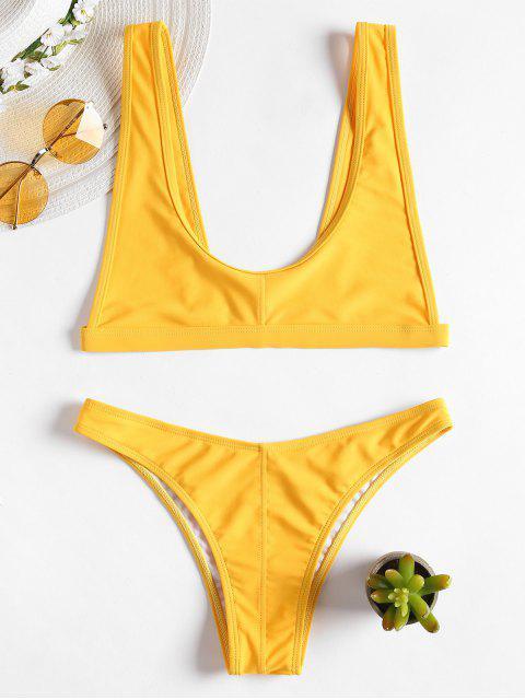 latest Bralette Scoop Neck Bikini - RUBBER DUCKY YELLOW S Mobile