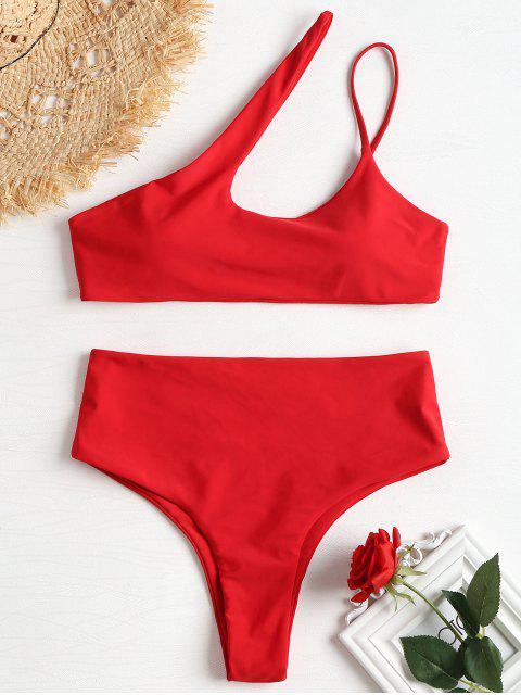 Bikini de pierna alta con un hombro - Rojo de Camión de Bomberos S Mobile