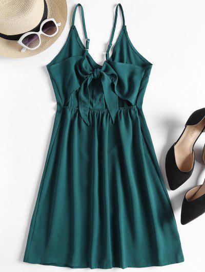 e7ce672c53a0 ... Contrast Button Front Cami Mini Dress - Peacock Blue S Flash sale HOT