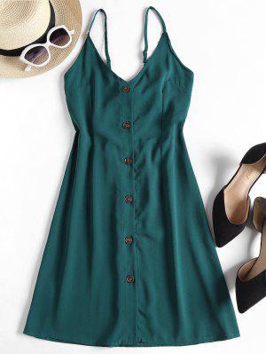 zaful Contrast Button Front Cami Mini Dress