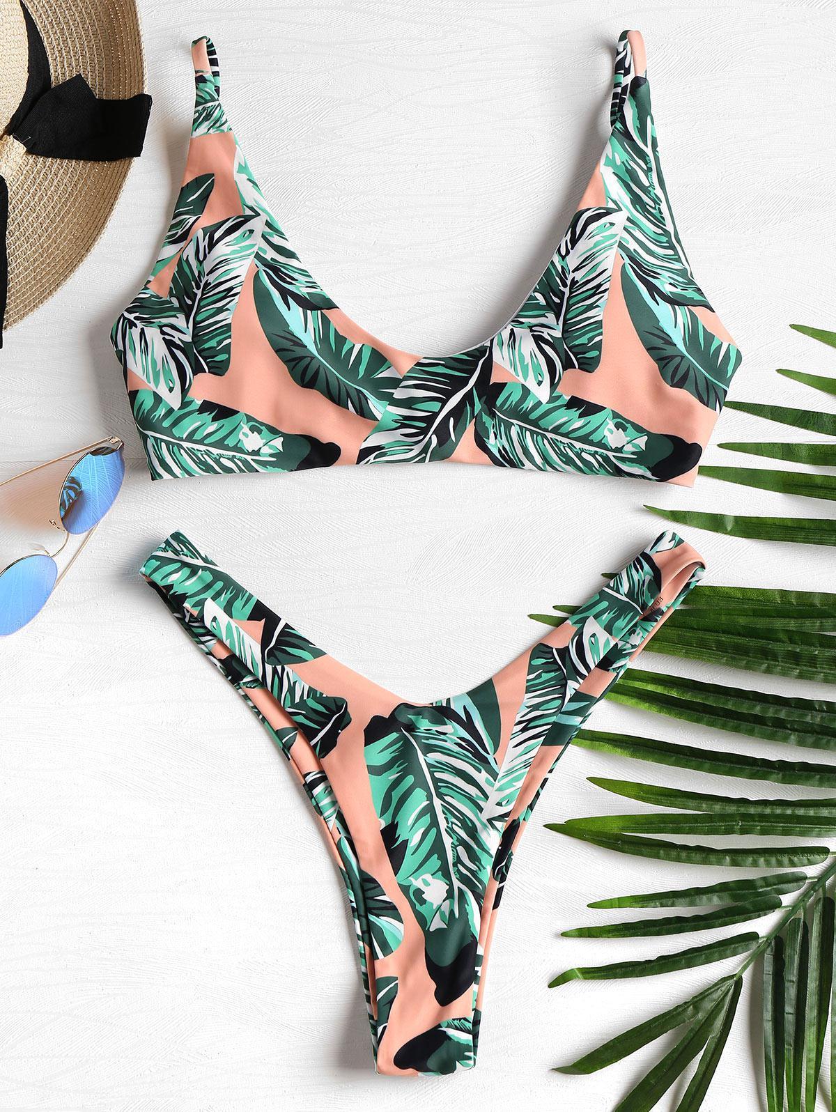 Palm Leaf High Leg Bik