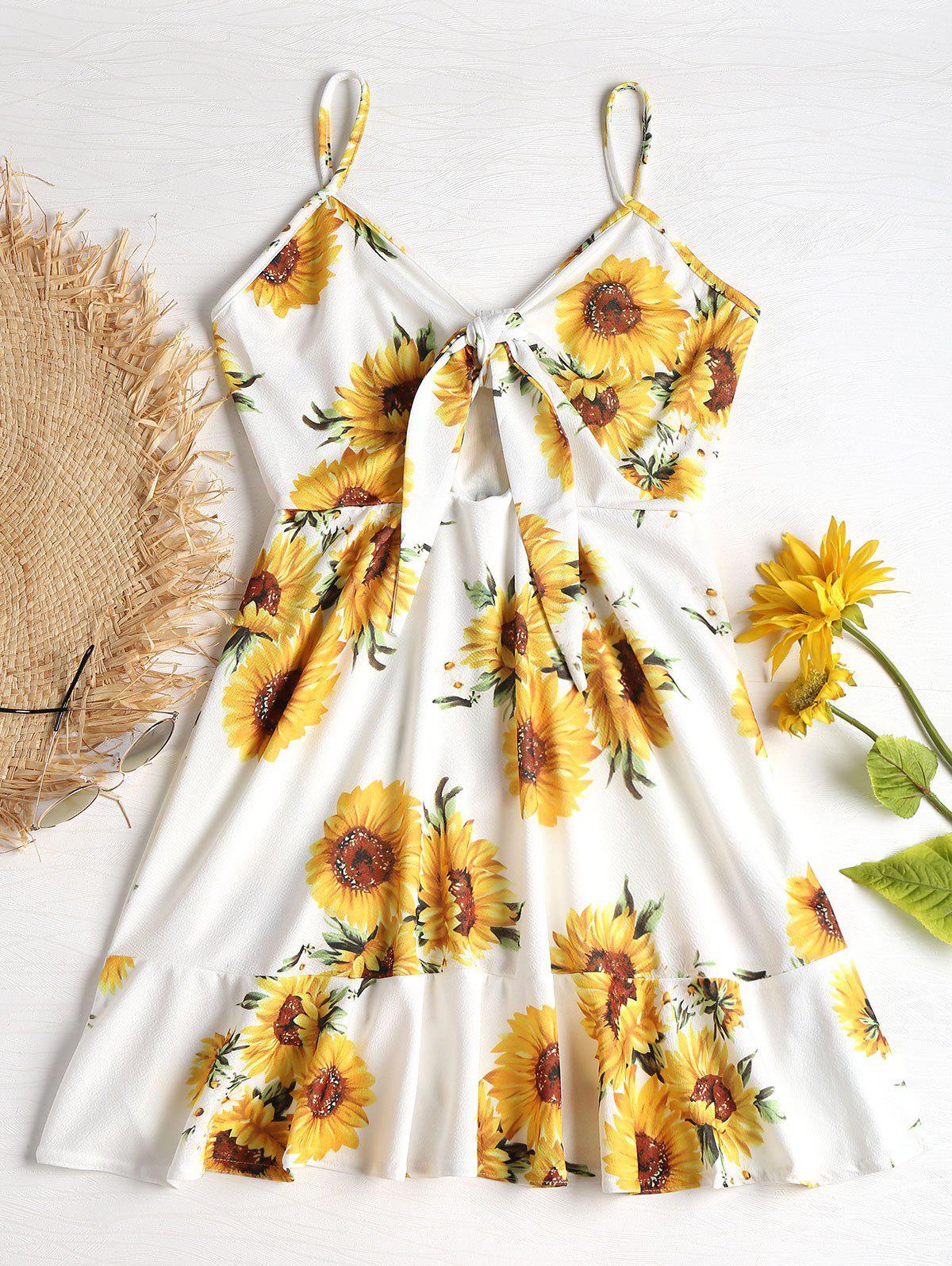 Tie Front Sunflower Pr