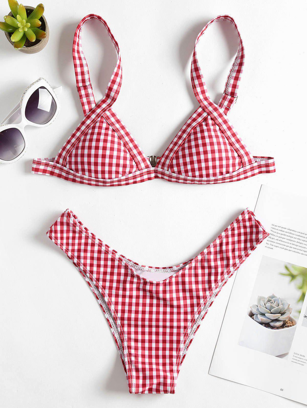 High Cut Gingham Thong