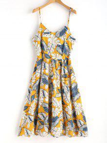فستان بطبعة وردة من كامي - متعدد