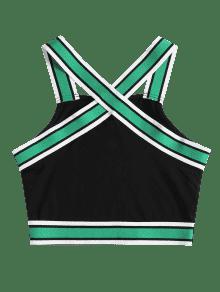 Sin Mangas Stripes Camiseta Cross L Negro Criss qcpaRF