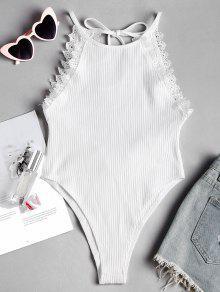 الرباط تريم انقطاع الظهر مضلع ارتداءها - أبيض M