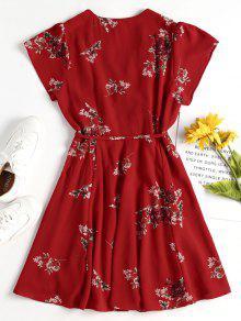 M 243;n Rojo Cami De Floral Bomberos De Vestido Mini wzSgq4Zq