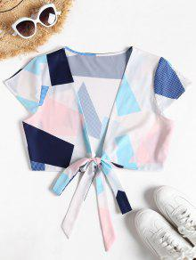 Tie S Graphic Top Wrap Multicolor Front 7w1Oq0