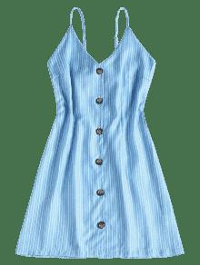 S Cielo En En Mini Oscuro 237;nea Azul L Rayas Contraste Vestido Frente El Con aqnwv6FO