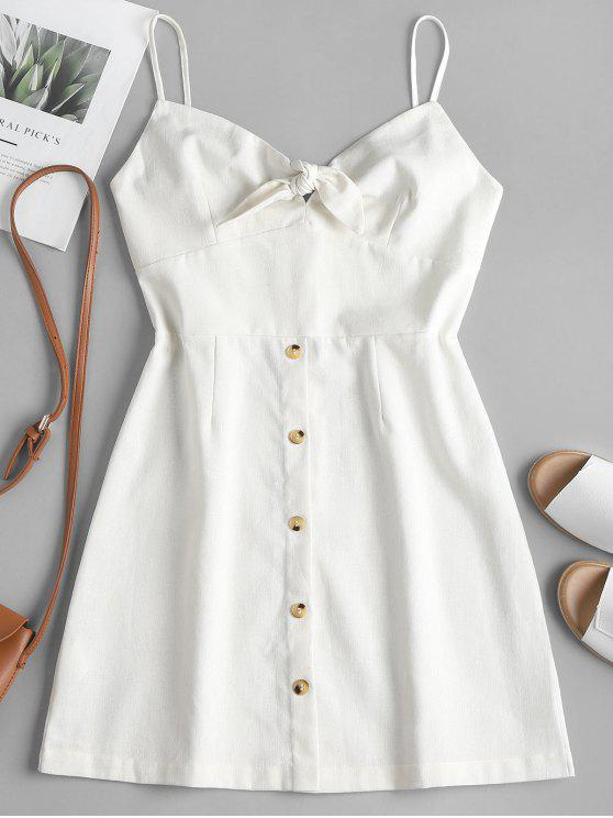 lady Tied Front Cami Dress - WHITE M