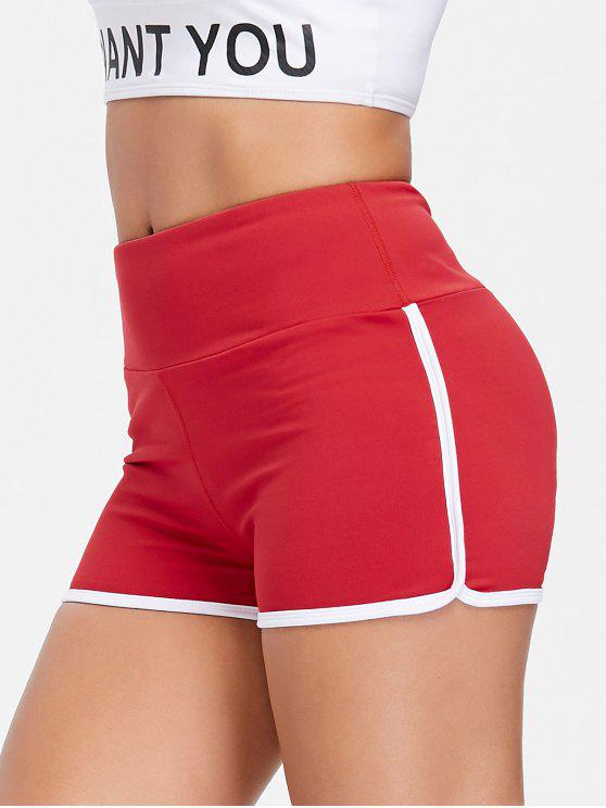 trendy Compression Gym Dolphin Shorts - LOVE RED S