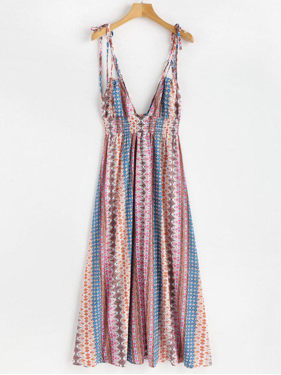 Vestido de Cami de Bohemia de cintura imperio - Multicolor L
