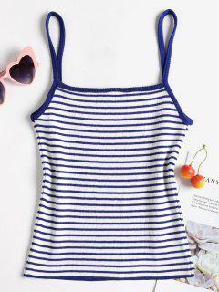 Knit Stripes Cami Tank Top - Deep Blue