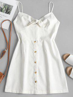 Tied Front Cami Dress - White M