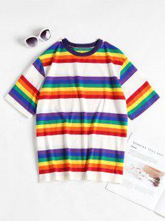 T-shirt à Rayures Colorées - Multi