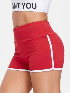 Compression Gym Dolphin Shorts - Love Red M