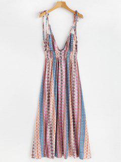 Vestido De Cami De Bohemia De Cintura Imperio - Multicolor M
