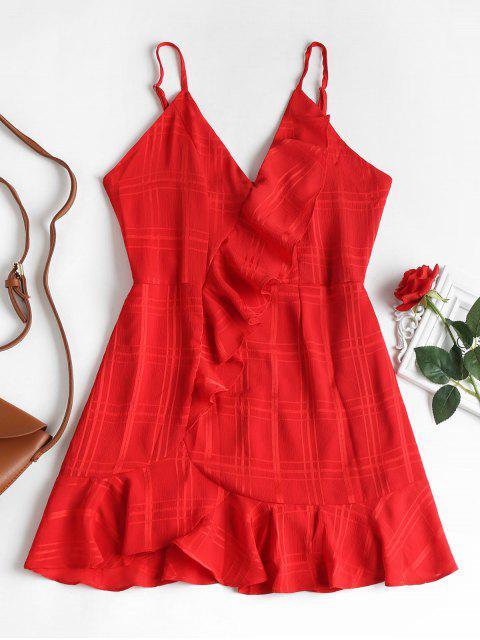 buy Ruffles High Waist Cami Dress - LOVE RED L Mobile