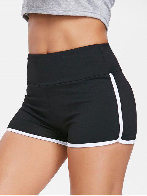 shop Compression Gym Dolphin Shorts - BLACK S Mobile