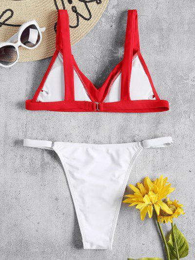 Cami Two Tone String Bikini, Love red