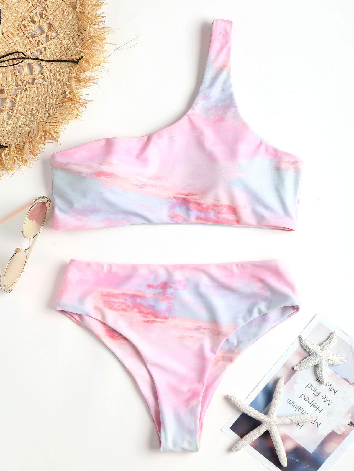 Tie Dye One Shoulder Bikini