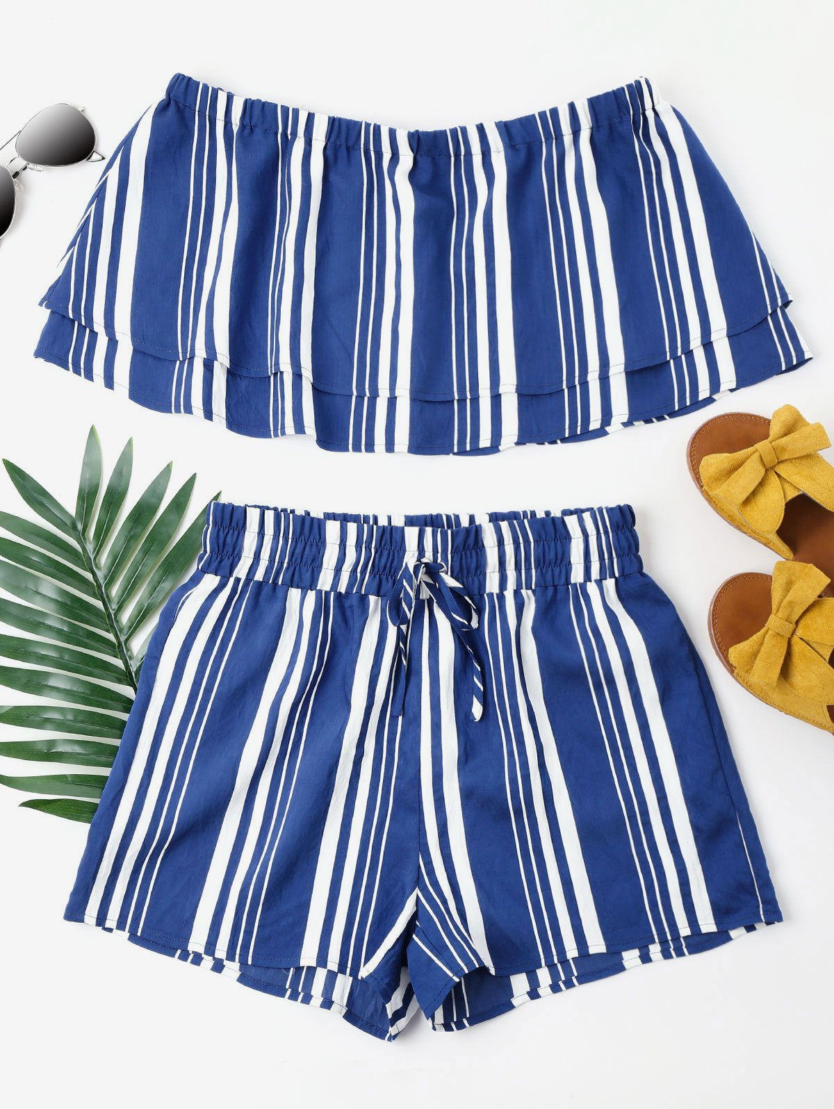 Striped Tiered Shorts
