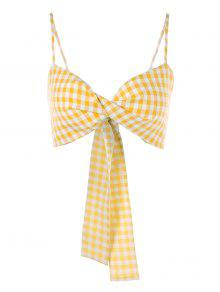Amarillo Top S Gingham Front Cami Twist f7F44q
