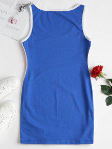 A Vestido L Rayado Rayas Azul Sin Mangas xnUZqwCpB